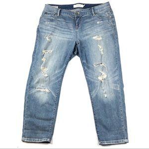 "TORRID jeans 14 ripped Ex-boyfriend 27"" inseam b10"